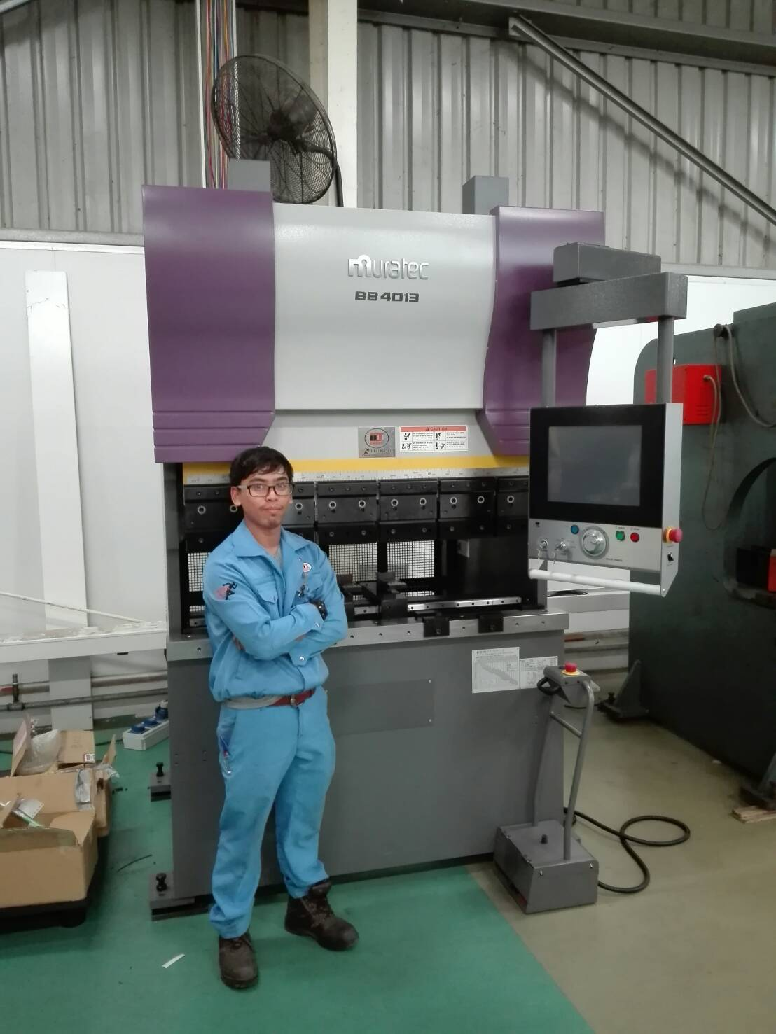 งานติดตั้ง Murata Press Brake BB4013 @ ลิกมันไลท์ติ้ง 22-5-60