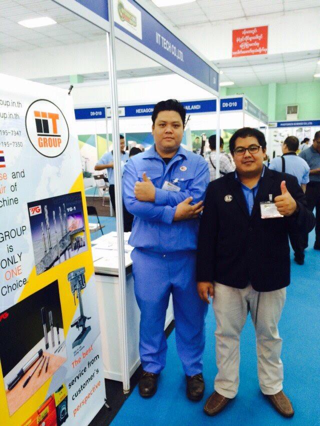 ออกบูทงาน Intermach & Subcon Myanmar 23-26 Sep 2015 @ Yangon