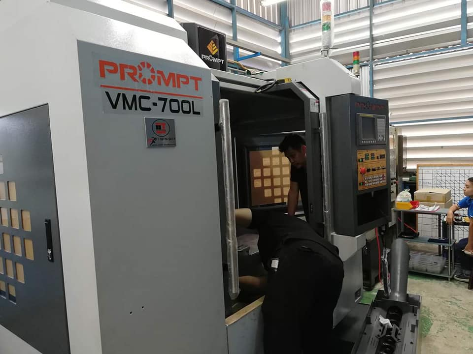 งานติดตั้ง Prompt VMC 700L @ แอมเพิล เอ็นจิเนียริ่ง 10/12/61