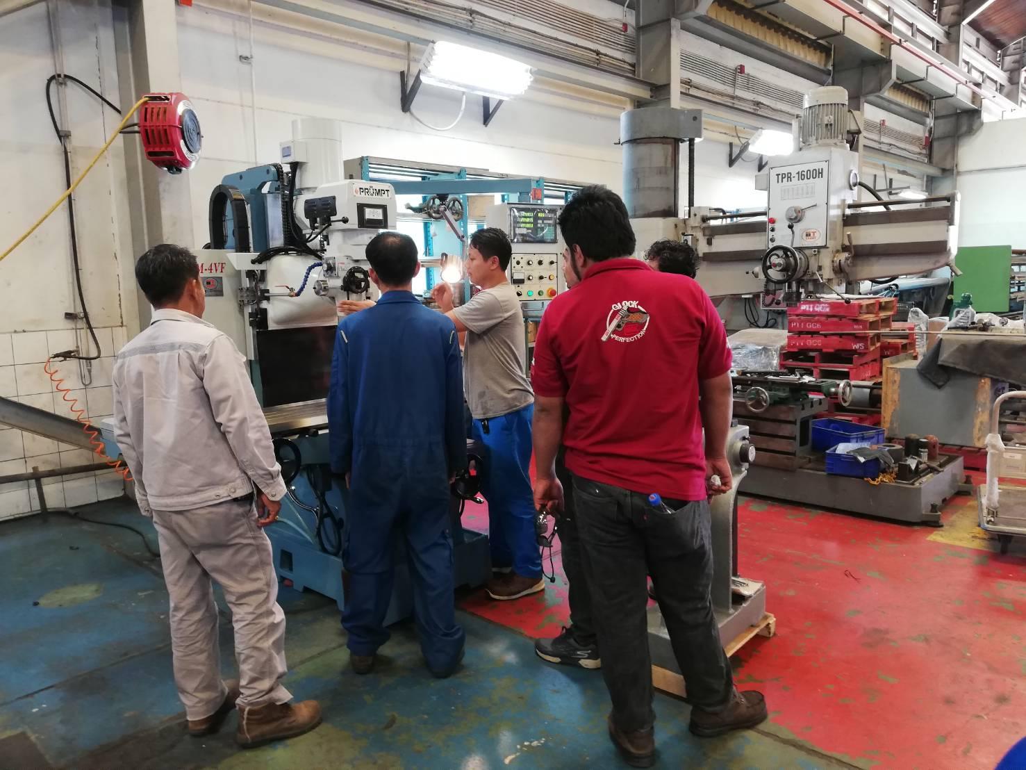 งานติดตั้งและเทรนนิ่ง Prompt Millimg Bed Type @ PTT Global Chemical 6/9/61