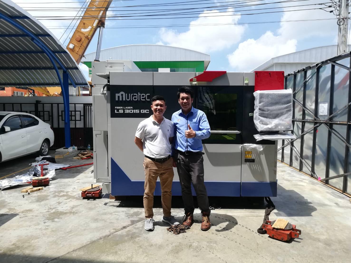 งานติดตั้งเครื่อง MURATA Fiber Laser LS 3015 GC @ ไทยคามาโย 21-5-61