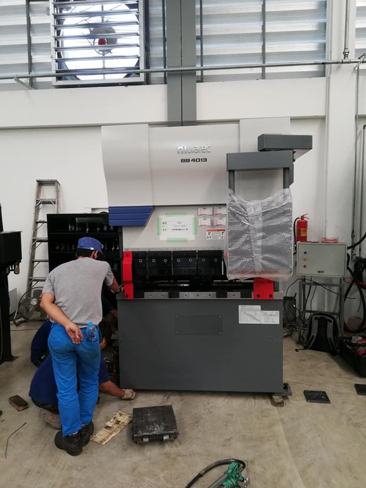 งานติดตั้งเครื่องพับ Muratec Press Brake BB4013 @ J.T.R 23/1/62