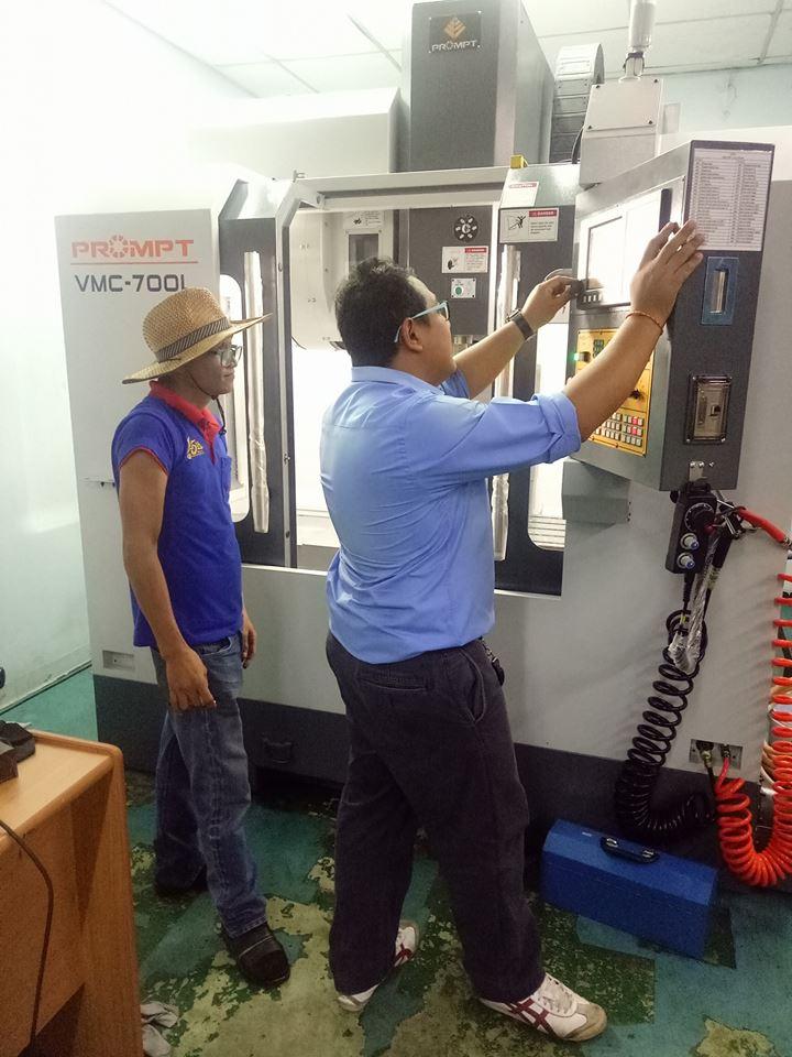 งานติดตั้ง PROMPT VMC 700L @ หจก.เซอร์พาส ดีไซน์ เอ็นจิเนียริ่ง 21-5-61