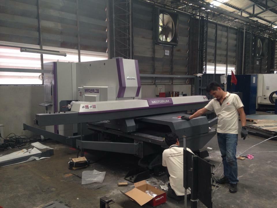 งานติดตั้ง Turret Punch Press Muratec Motorum 2048 TE @ โชคชัย เอ็นจิเนียริ่ง 4-7-58
