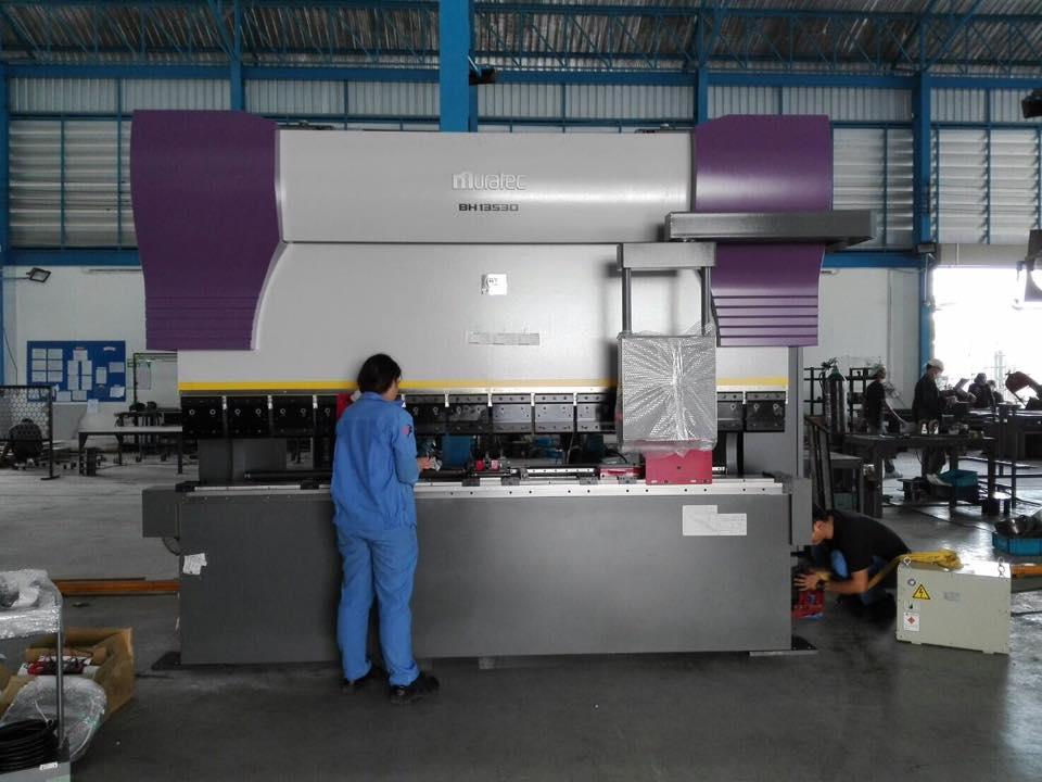 งานติดตั้ง Murata Press Brake BH13530 @ บริษัท ไทยคามาโย 10/3/60